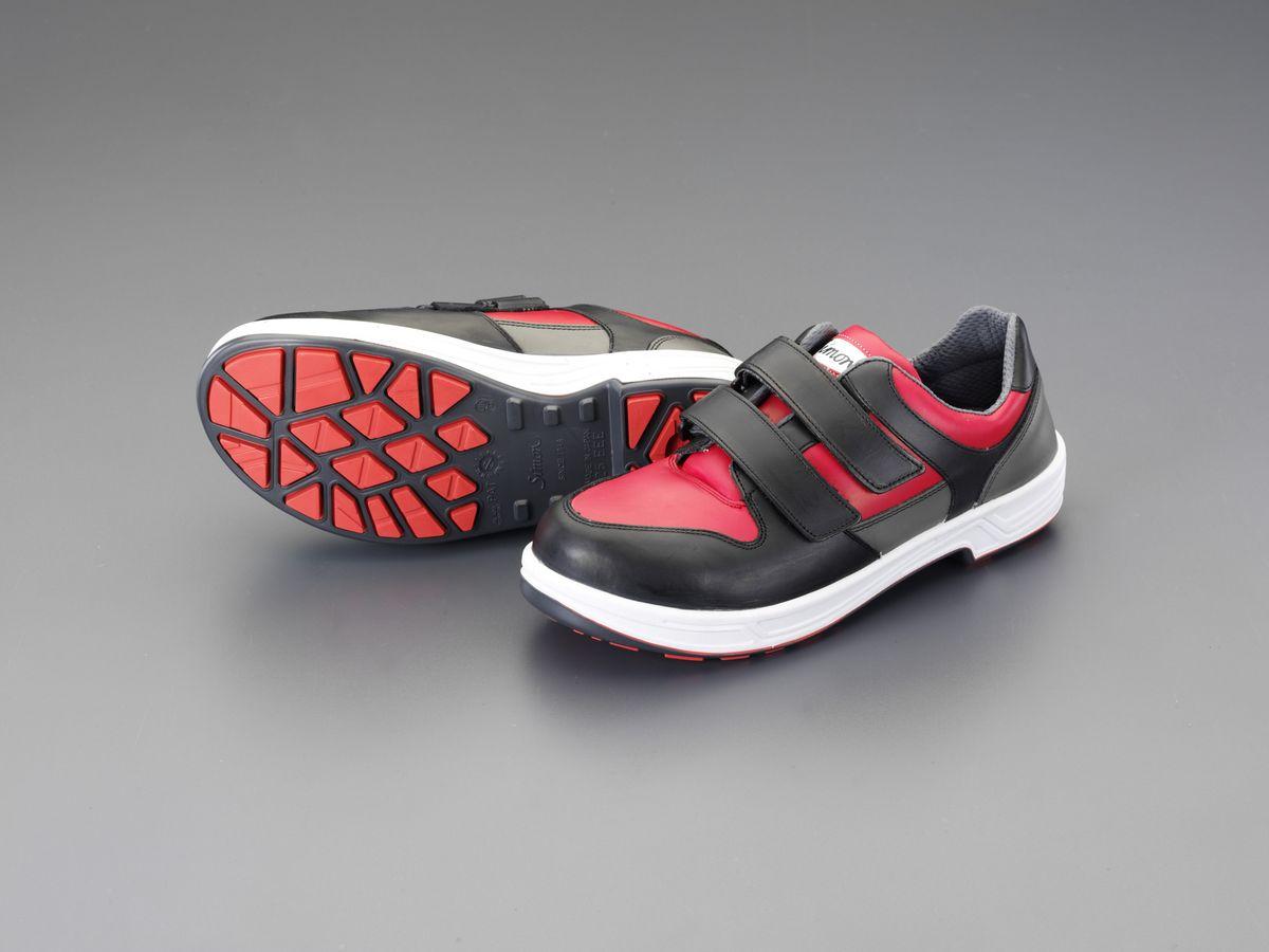 【メーカー在庫あり】 エスコ ESCO 24.5cm 安全靴 静電・耐油底/マジック式 000012219777 HD店