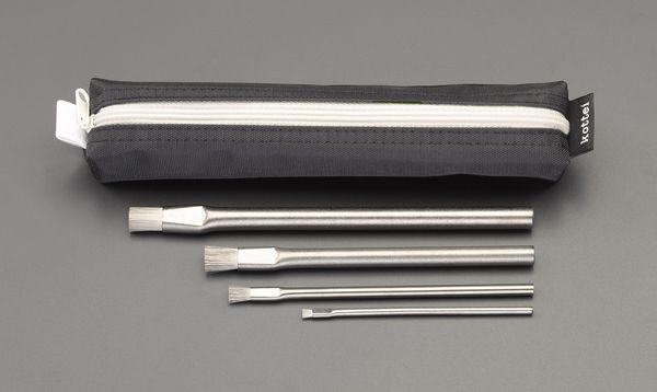 【メーカー在庫あり】 EA109AH-10 エスコ ESCO 4本組 ステンレス製ブラシセット