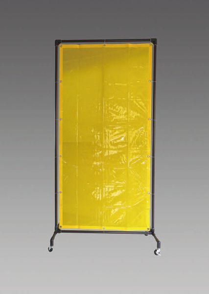 【メーカー在庫あり】 EA334BE-20Y エスコ ESCO 1000x2150mm 溶接作業フェンスセット(黄色)