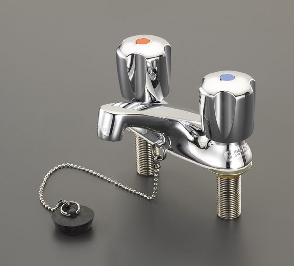 【メーカー在庫あり】 EA468CY-43 エスコ ESCO 2ハンドル混合水栓