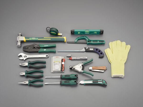 【メーカー在庫あり】 EA59 エスコ ESCO [18個組] 電気工事用工具セット