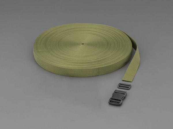 【メーカー在庫あり】 EA628PT-530B エスコ ESCO 30x1.7mmx50m 平織バンド・バックルセット(OD色)