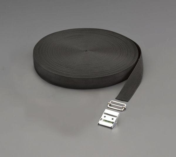 【メーカー在庫あり】 EA628PT-638 エスコ ESCO 38x1.7mmx50m 平織バンド・バックルセット(黒)