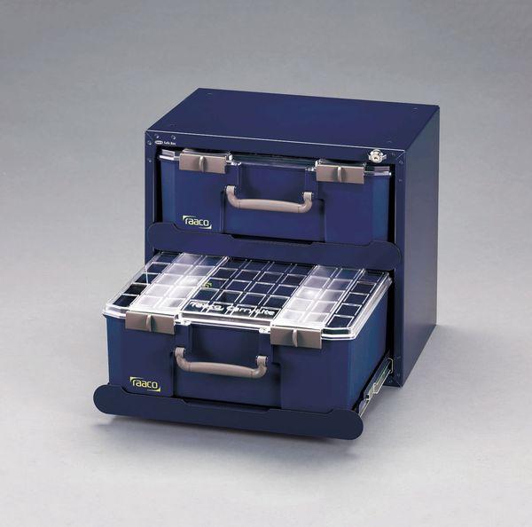 【メーカー在庫あり】 EA661AB-110 エスコ ESCO 451x330x403mm スチール製キャビネット[パーツケース付]