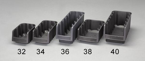 【メーカー在庫あり】 EA661DA-36 エスコ ESCO 170x450x180mm パーツトレー(重ね型/黒/10個)