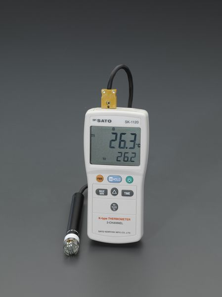 ESCO 【メーカー在庫あり】 デジタル温度計(2チャンネル) EA701SG-2 エスコ -203.3/+1368℃