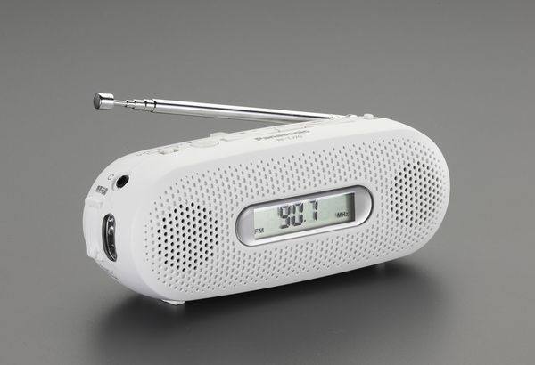【メーカー在庫あり】 EA758-46A エスコ ESCO 非常用ライト/LED(手廻シ発電/ラジオ付)