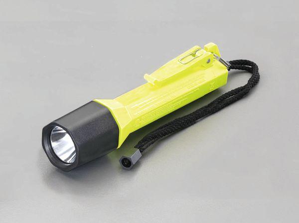 【メーカー在庫あり】 EA758W-42C エスコ ESCO [単2x3本] フラッシュライト/LED(防爆構造・黄)