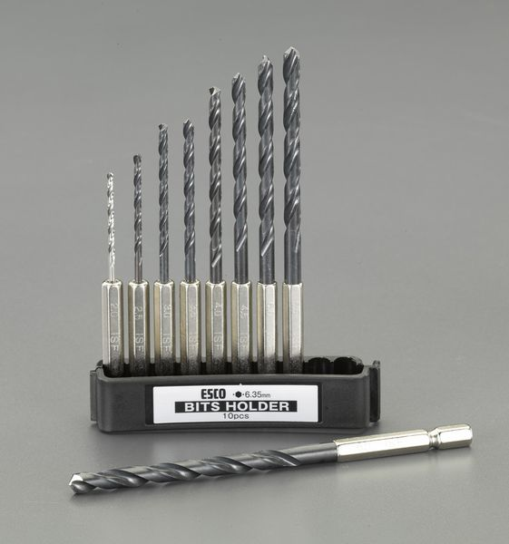 【メーカー在庫あり】 EA824BH エスコ ESCO 2.0-6.0mm/9本組 六角軸ドリル(HSS)
