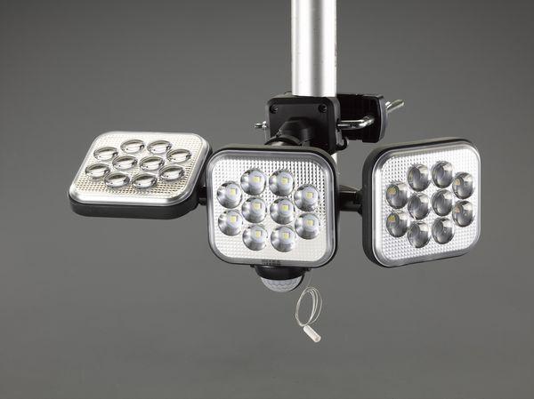 【メーカー在庫あり】 EA864CA-90 エスコ ESCO [AC100V/12Wx3] LEDセンサーライト