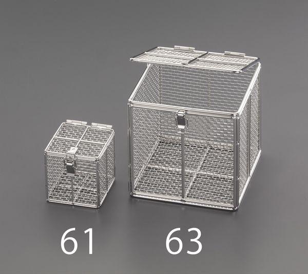 【メーカー在庫あり】 EA992CV-61 エスコ ESCO 100x100x100mm バスケット(フタ付ステンレス製)