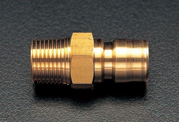 【メーカー在庫あり】 エスコ ESCO R 2インチ 雄ねじプラグ(中圧用/真鍮) EA140AD-16 HD店