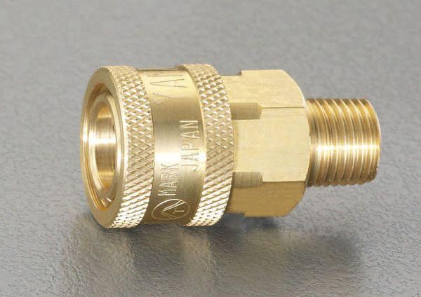 【メーカー在庫あり】 エスコ ESCO R 1・1/4インチ雄ねじカップリング(中圧用/真鍮) EA140BD-10 HD店