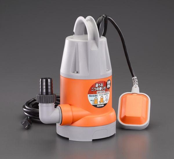 【メーカー在庫あり】 エスコ ESCO AC100V(50Hz)/32mm 水中ポンプ(汚水中/オート) EA345EM-5 HD店