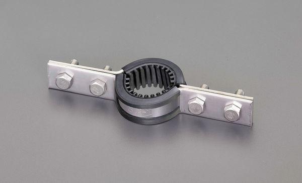 【メーカー在庫あり】 エスコ ESCO 80A 鋼管用床バンド(ゴム付/ステンレス製) EA440CC-80 HD店