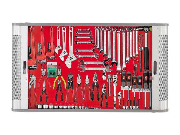 【メーカー在庫あり】 エスコ ESCO 76個組 工具セット(シャッター付) EA81B HD店