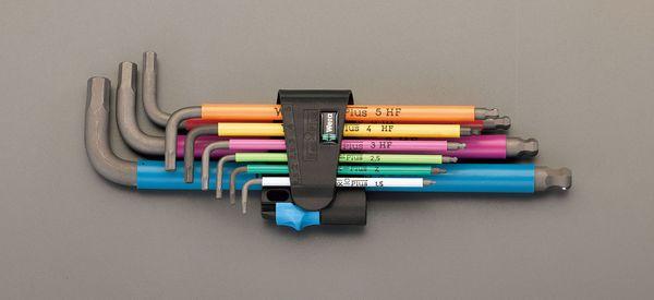 【メーカー在庫あり】 エスコ ESCO 1.5-10mm/9本組 HEX キーレンチ(ホールド機能付) EA573WF-590 HD店