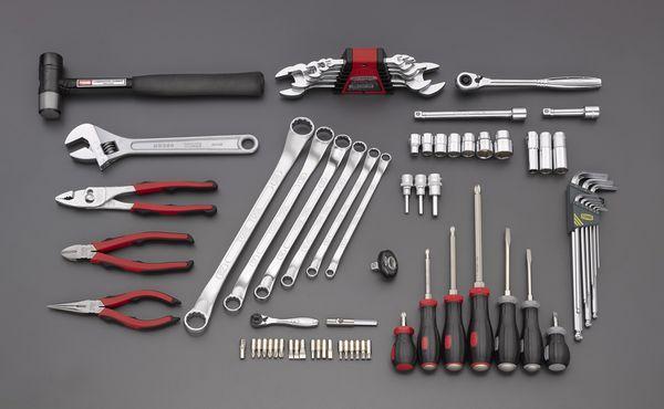 【メーカー在庫あり】 エスコ ESCO 73個組 工具セット EA612SC-56 HD店