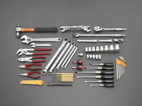 【メーカー在庫あり】 エスコ ESCO 62個組 工具セット EA612SF-2 HD店