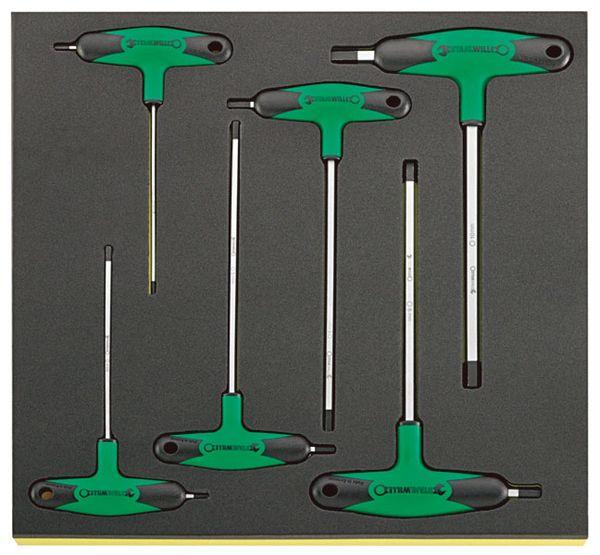 【メーカー在庫あり】 エスコ ESCO 6本組 T型六角棒レンチセット EA612TB-6 HD店