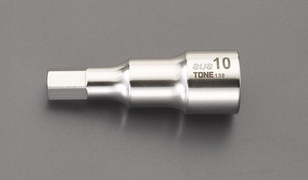 【メーカー在庫あり】 エスコ ESCO 1/2インチsq x19mm HEX ビットソケット(ステンレス製) EA618SC-219 HD店