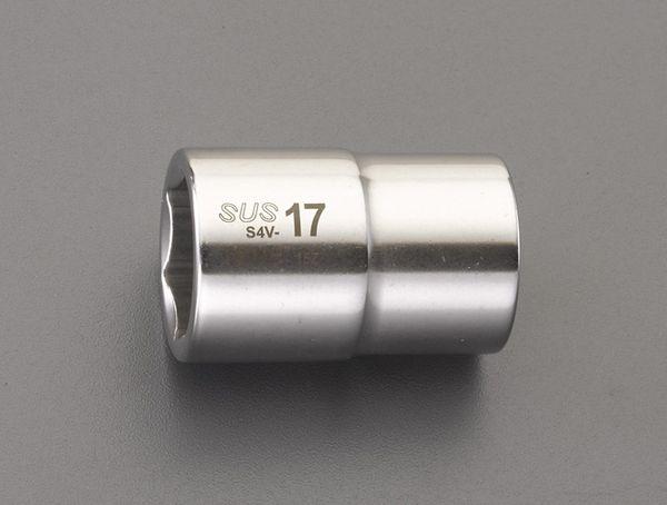 【メーカー在庫あり】 エスコ ESCO 1/2インチsq x32mm ソケット(ステンレス製) EA618SC-32 HD店