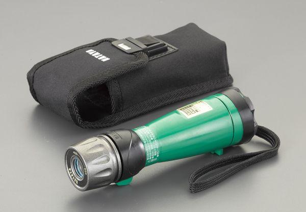 【メーカー在庫あり】 エスコ ESCO 単3x3本 フラッシュライト/LED(防爆) EA758HA-34 HD店