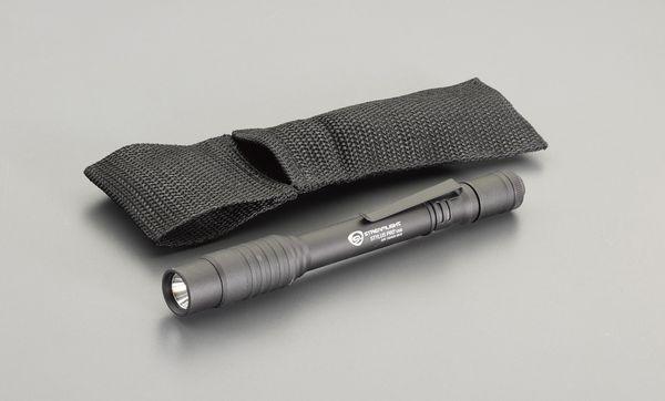 【メーカー在庫あり】 エスコ ESCO 充電式 フラッシュライト/LED(ペン型・黒) EA758SG-9 HD店