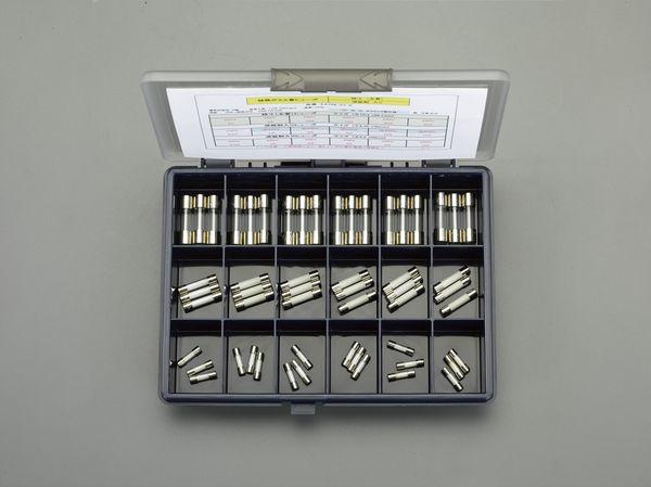 【メーカー在庫あり】 エスコ ESCO 250V/φ5.2・6.4・10.3mm 管ヒューズセット EA758ZY-0 HD店