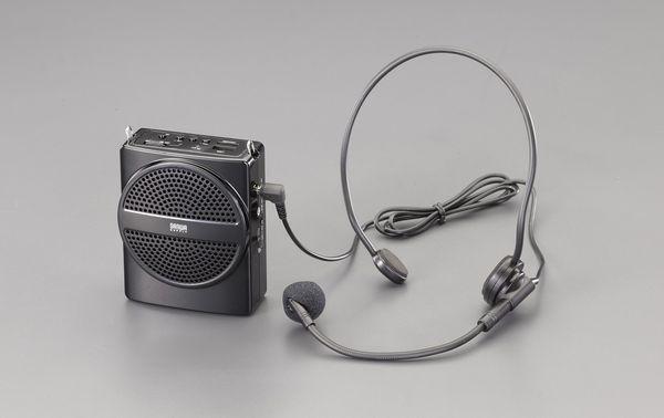 【メーカー在庫あり】 エスコ ESCO ハンズフリー拡声器スピーカー EA763CJ-2 HD店