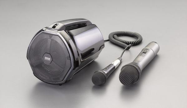 エスコ ESCO ワイヤレスマイク付拡声器スピーカー EA763CJ-3 HD店
