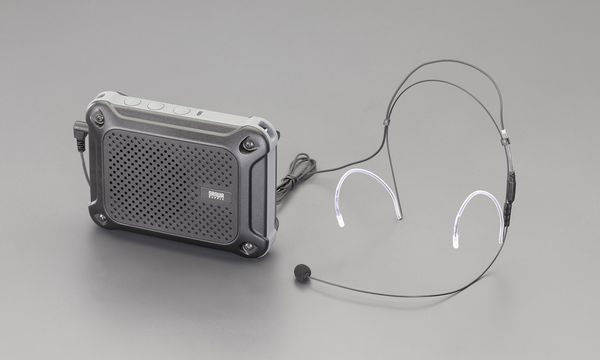 【メーカー在庫あり】 エスコ ESCO 防水型 ハンズフリー拡声器スピーカー EA763CJ-8 HD店