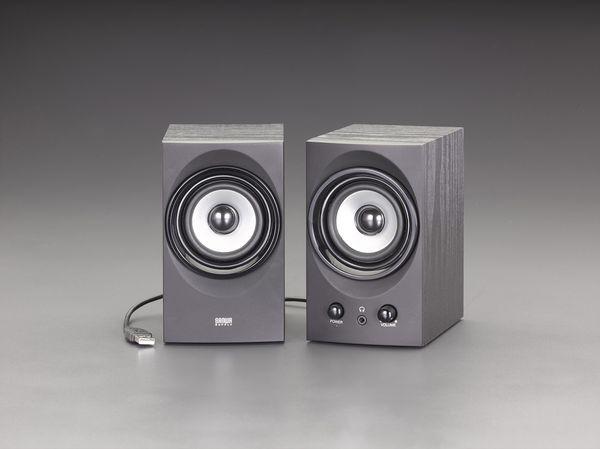 【メーカー在庫あり】 エスコ ESCO 90x118x150mm ハイパワースピーカー(USB電源) EA764AS-60 HD店