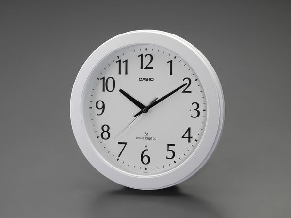 【メーカー在庫あり】 エスコ ESCO φ353mm  電波 掛 時 計 EA798CA-128 HD店