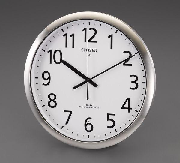 【メーカー在庫あり】 エスコ ESCO φ380mm 電波 掛 時 計 EA798CB-94 HD店
