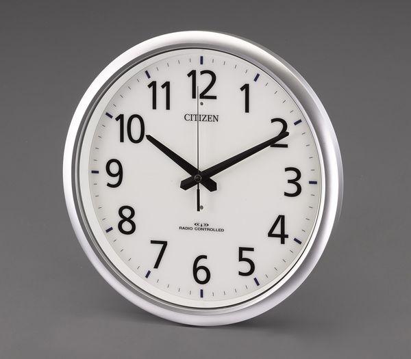 【メーカー在庫あり】 エスコ ESCO φ320mm 電波 掛 時 計 EA798CB-95 HD店