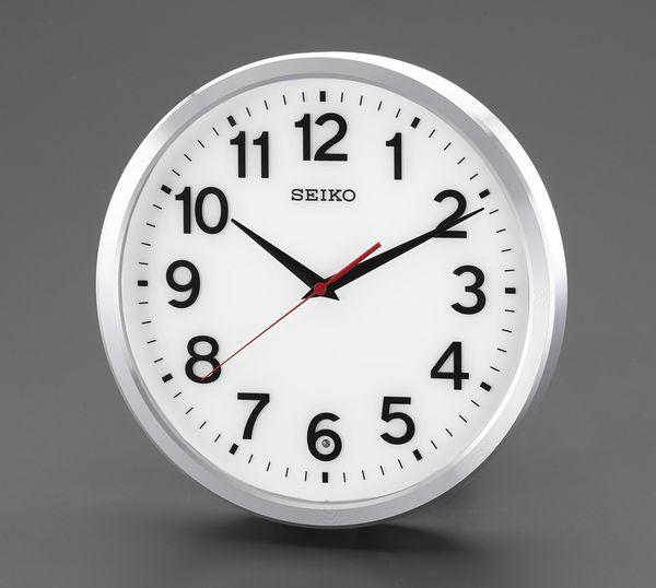 【メーカー在庫あり】 エスコ ESCO φ305mm 電波 掛時計 EA798CC-121 HD店