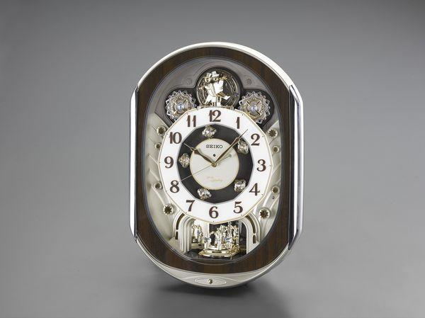 【メーカー在庫あり】 エスコ ESCO 465x337x 99mm 電波 からくり掛時計 EA798CC-84 HD店