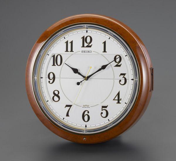 【メーカー在庫あり】 エスコ ESCO φ390mm 電波 からくり掛時計 EA798CC-85 HD店