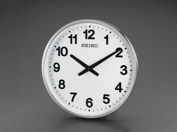 【メーカー在庫あり】 エスコ ESCO φ450mm 防雨 屋外用掛時計 EA798CC-95 HD店
