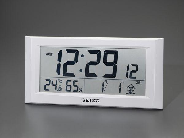 【メーカー在庫あり】 エスコ ESCO 247x508x 46mm 衛星電波 掛・置兼用時計 EA798CS-1 HD店
