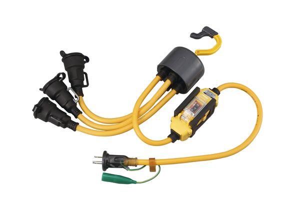 【メーカー在庫あり】 エスコ ESCO AC125V/15A/1.2m延長コード(3口/漏電遮断器付 EA815GC-32 HD店