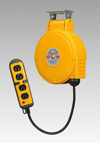 【メーカー在庫あり】 エスコ ESCO AC125V/15A/ 8m 自動巻リール付コンセント EA815SS-26 HD店