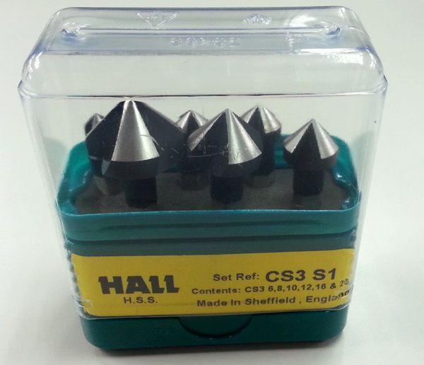 【メーカー在庫あり】 エスコ ESCO 6.3-20.5mm カウンターシンク(3枚刃・6本組・HSS) EA827E-1 HD店