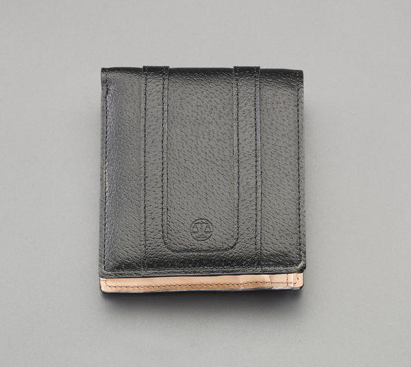 【メーカー在庫あり】 エスコ ESCO 95x110x10mm 二つ折り財布 EA927BS-5 HD店