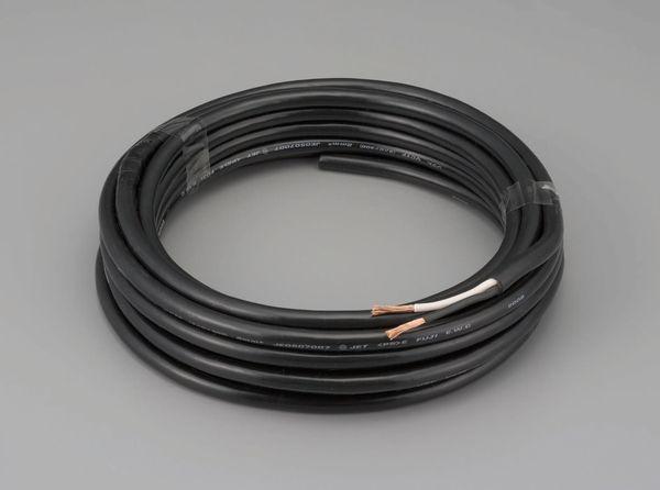 【メーカー在庫あり】 エスコ ESCO 1.25mm2x50m/2芯 2種EPゴム キャブタイヤケーブル EA940AX-15 HD店