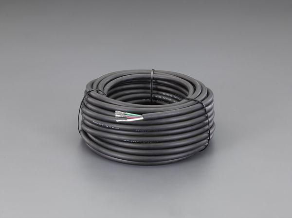 エスコ ESCO 0.75mm2 x50m/4芯 2種EPゴム キャブタイヤケーブル EA940AZ-5 HD店