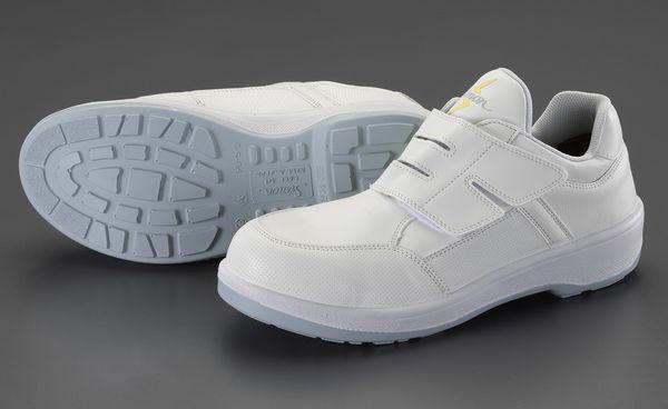 【メーカー在庫あり】 エスコ ESCO 25.0cm 安全靴(静電/白色) EA998WB-25A HD店