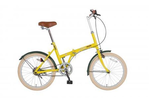 【メーカー在庫あり】 エスコ ESCO 20インチ 折畳み式自転車(イエロー) EA986Y-16C HD店