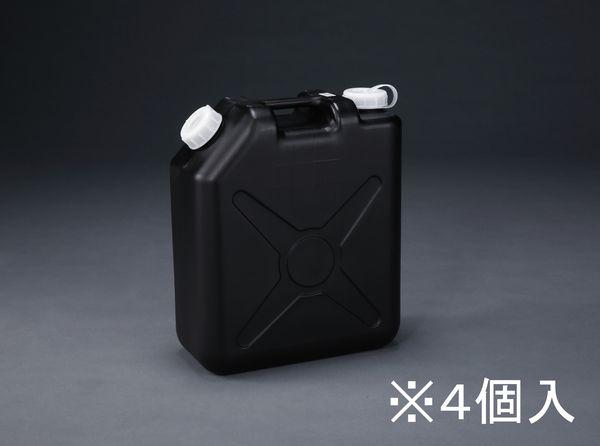 【メーカー在庫あり】 20L ポリタンク(黒) (ポリエチレン製/ノ 000012288694 HD店